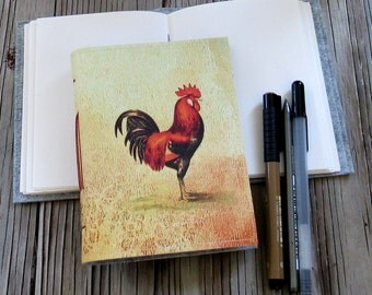 rooster journal - 2017 year of the rooster, new year holiday gift diary - goal journal