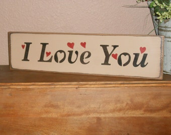 I Love You  w/hearts    Valentines