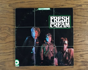 CREAM recycled Fresh Cream music album cover coasters with record bowl