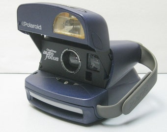 "Vintage Polaroid One Step Auto Focus Blue ""The Whale"" for Impossible Project 600 Film"