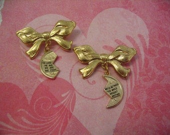 Mizpah Bow Brooch Pin for Friends Mother Daughter or Sisters Gift
