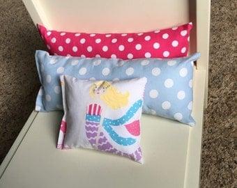 Blue MERMAID - Set of 3 Doll Pillows