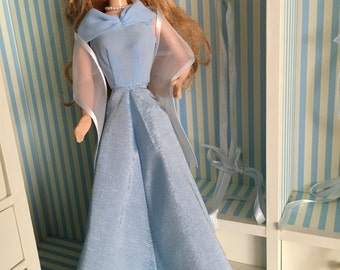 Powder Blue BARBIE Gown - 4-Piece Set