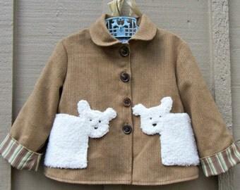 Size 4 Bear Little Boy Jacket Coat