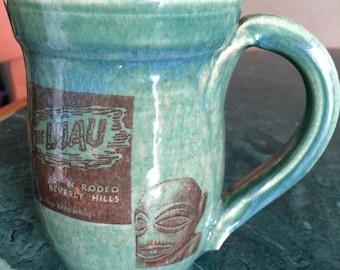 Handmade mug vintage tiki decals