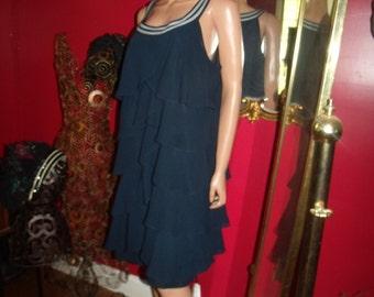 Vintage Dress Flapper G.Gatsby Ruffles does 20-30s Theme Size 16W