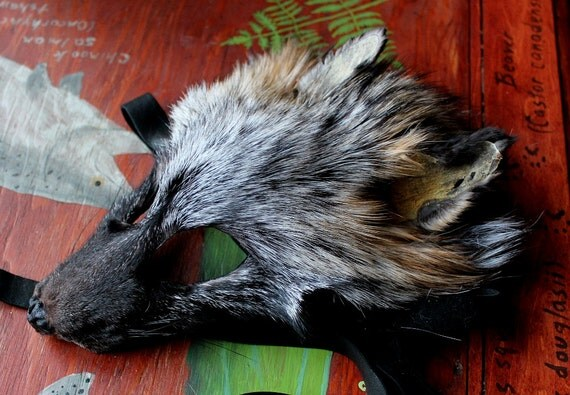 real eco friendly cross fox fur mask shaped and glasses. Black Bedroom Furniture Sets. Home Design Ideas