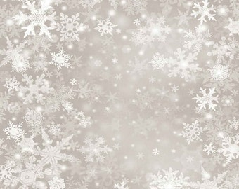 Elegant Snowflake 5ft x 5ft Backdrop Computer Printed Photography Background L-885