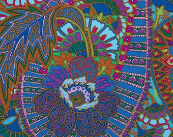 Spring 2013 Belle Epoch Blue - Kaffe Fassett Classics 100% Quilters Cotton Available in Fat Quarter, Half Yard, Yard