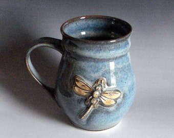 Coffee,tea mug with Dragonfly Made to order