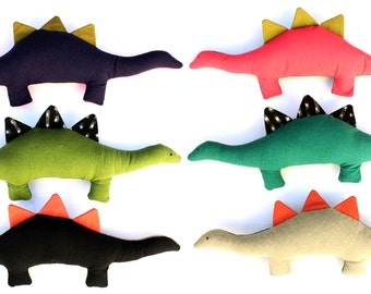 Pinxx the Dinosaur-Color Blocked Linen Plush toy, proceeds being donated
