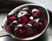 BERRY BLISS No. 2 .. NEW 10 Premium Czech Glass Rondelle Beads 5x7mm (4977-10)