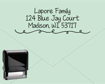Self Inking Return Address Stamp * Custom Address Rubber Stamp (E413)