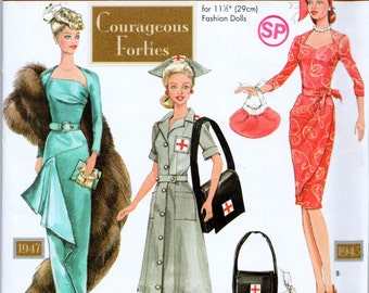 """Sewing Pattern 40's Clothing for 11.5"""" Fashion Doll Circa 1947 UNCUT, Simplicity 9773"""