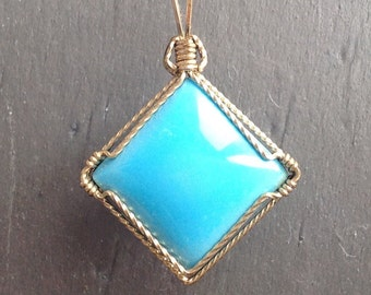 Pretty Robin's Egg Blue Pendant Turquoise