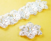 CLEARANCE Pendant Blank 10 Pendant Tray Antique Silver Victorian Flower Bendable Tray Pad 42mm 6 Point (1043cap42s1)os