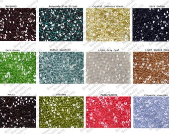 OVERSTOCK SALE CLEARANCE Swarovski Beads Crystal Set 600 (50 each color) 4mm Bicone Colors 5328 Faceted,os1