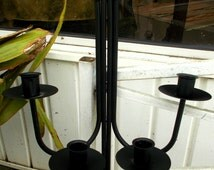 Wrought Iron Candelabra Wall Hanging Farmhouse Cottage Chic Gothic Design Farmhouse