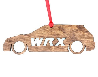 Wooden Subaru WRX Wagon Ornament