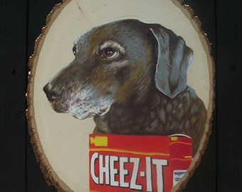Custom Pet Portrait- Colored pencil on wood