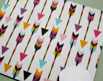 LAST ONE  Buy 2 FREE Shipping Special!!   Mouse Pad, Fabric Mousepad    Bohemian Arrows