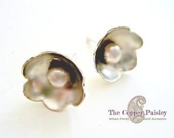 Earrings Sterling Silver Flower Posts