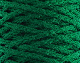 10 Yards Braided Macrame Cord - Kelly Green