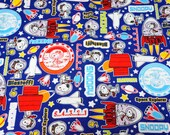 Peanuts Worldwide LLC Licensed fabric print Japanese fabric 50 cm by  106  cm or 19.6 by 42  inches Half meter