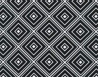 Fat Quarter - Metro Living Diamond Robert Kaufman Fabrics SRK-15082-2 Black