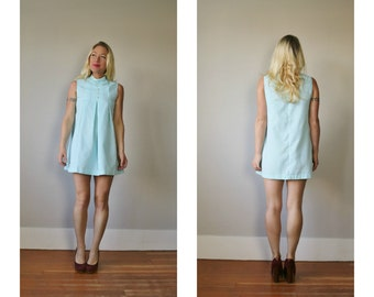 1960s Baby Blue Dress~Size Extra Small or Girls Size 10/12