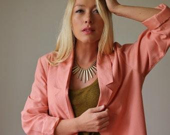 1980s Sag Summer Blazer >> Small to Medium