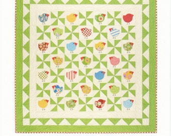 """PATTERN CHUBBY CHICKS Bird Quilt pattern Easy and Fun 60"""""""