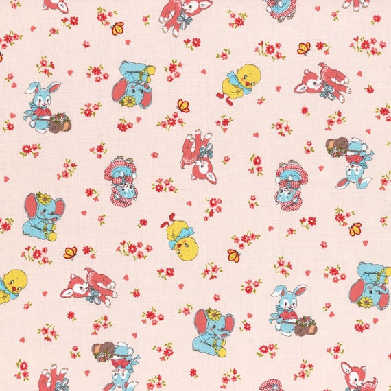 Clearance fabric 1930s inspired retro baby by for Retro baby fabric