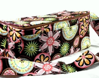 "Coupon Pocketbook, Coupon Bag, Extreme Couponing Mega Deluxe 6"" Double Wide Carnival Bloom Organizer"