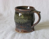 Matt Gray Gold Brown Black Curved-Side Thumbrest Mug