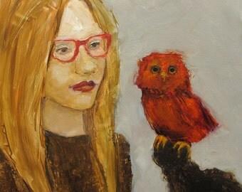 Original Oil Painting Abstract Figure Figurative Panel Colette Davis