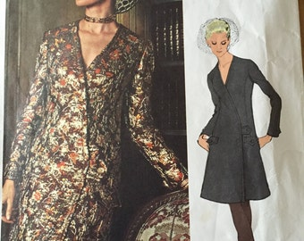 OOP Use/Complete Vogue Americana pattern 2379 James Galanos One--Piece Dress Size 8 Bust 31 1/2