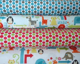 """Riley Blake fabric """"Alphabet Soup"""" by Zoe Pearn for My Minds Eye, yard bundle of 4"""