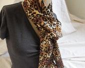 Leopard Print Fabric Scarf (5406)