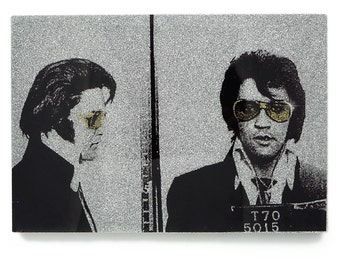 Elvis Presley Glamourizing Crime art plaque