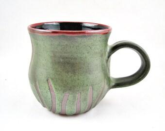 Ready to ship pottery mug, ceramic coffee mug, handmade stoneware mug, large mug 18 oz. - in stock