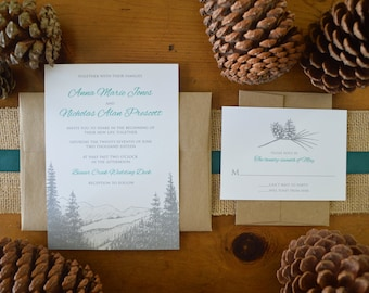 Mountain Pine Wedding Inviations