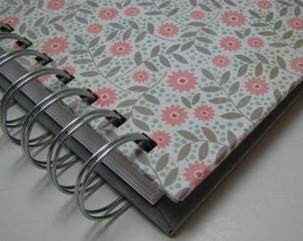 Sketchbook/ Lined Journal/ Blank Journal/ Journal/ Prayer Journal/ Daily Journal/ Wire Bound Journal/ Diary/ Notebook/ Pink Gray Floral