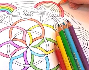 DIY Coloring Page - Celtic Mandala - Instant Download