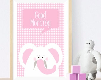 Elephant - Baby room wall art