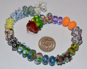 Destash - Lampwork Glass Bead Pairs (17) Assorted Colors and Shapes