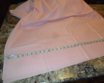 """REDUCED near 4 Continuous Yds of Vintage Solid Pink Polished Cotton Fabric x 35""""width"""