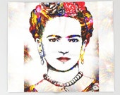 Throw Blanket, Fleece Blanket, Sofa Throw, Frida Kahlo 21 digital art Lucie Dumas