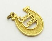 Vintage Horseshoe Good Luck Charm Hobco Jewelry