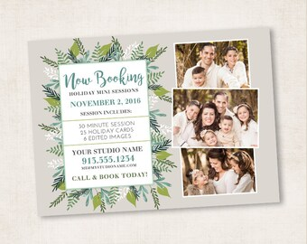 Winter Foliage Photography Marketing Card Template | 5x7 | 1 PSD Photoshop Template for Photographers | MM8018